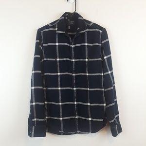 J. Crew women's slim plaid flannel button down